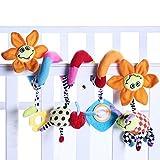 Baby Kinderwagen Hängen Spielzeug Bett Hängen Musik Bett Ornamente Bedside Wind Chimes Lernspielzeug (Sun Flower)