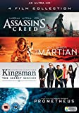 UHD 4 Film Collection (Assassin's Creed, The Martian, Kingsman & Prometheus) [4K Blu-ray] [2017]