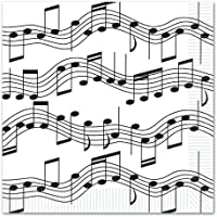 Musical Note Luncheon Napkins (2-Ply) (16/Pkg) by Beistle