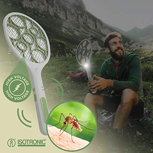 ISOTRONIC Elektrische Fliegenklatsche Fliegenfänger Moskito Zapper Insektenvernichter (1)