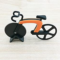 Cutogain Cortador de Pizza de Acero Inoxidable para Bicicleta, Rodillo de plástico para Pizza, Cortador de picadora de Cocina
