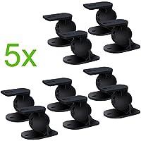 Incutex 10 piezas (5 pares) soportes de pared universales para altavoces p. ej. Teufel, Bose, Yamaha, Bosten etc, negro