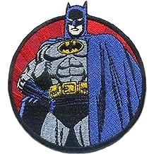 gelb Batman Umhang 2 Aufnäher // Bügelbild 8,1 x 5,7 cm Patches Aufbügeln