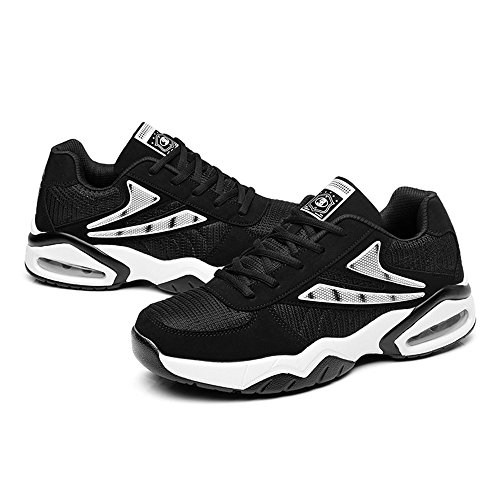 Peggie House Baskets Chaussures Jogging Course Gym Fitness Sport Style Running Multicolore Respirante Blanc & Noir