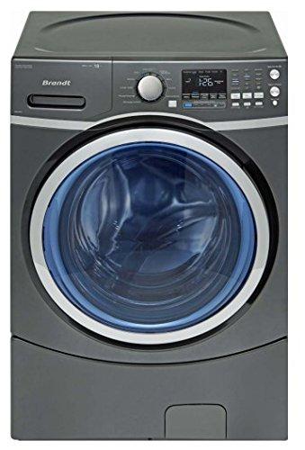 Brandt BWF618DS Autonome Charge avant 18kg 1300tr/min A++ Noir machine à laver - Machines à laver (Autonome, Charge avant, Noir, boutons, Rotatif, Gauche, LED)