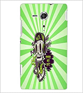 PrintDhaba Music Skull D-5851 Back Case Cover for SONY XPERIA SP (Multi-Coloured)