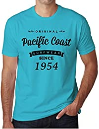 1954, Pacific Coast, costa del pacifico camiseta, ropa de surf camiseta hombre, camiseta regalo, regalo hombre