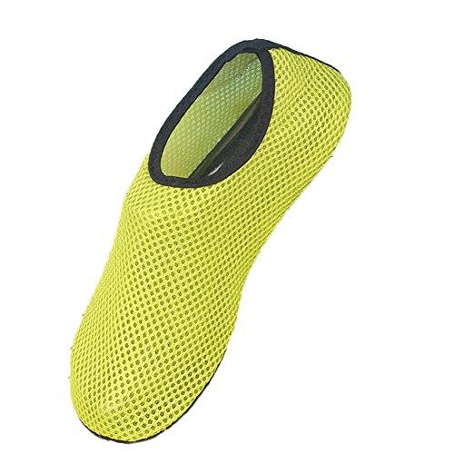 Moolecole Extérieur Fitness Yoga Chaussures de Course Unisexe Barefoot Eau Sports Aqua Chaussures Chaussures Aquatiques pour Beach Natation Surf Peau Chaussures Vert