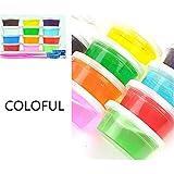 Spaniser 1PC Color Aleatorio Multicolor Bricolaje Arcilla Slime No tóxico Barro de Cristal Transparente Magia Arcilla de Moldear Juguetes