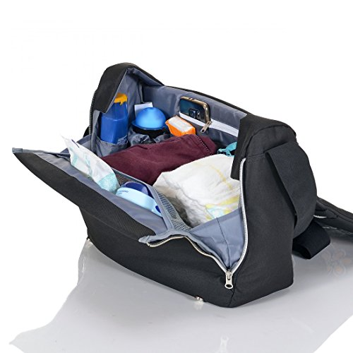 LCP Kids Wickeltasche VIENNA BLACK - 4