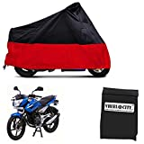 Vheelocityin Stretchable Red and Black Water Resistant Bike Cover Bike Body Cover For Bajaj Xcd 125