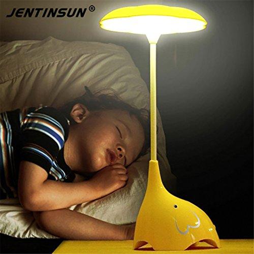 XIAOBIDENG Touch Sensor Schalter-LED Elefant Nachtlicht Energiesparend Leselampen wiederaufladbare Tabelle Schreibtischlampe für Baby Schlafzimmer Nachttisch Rosa (Schlafzimmer Lampen Für Hello Kitty)
