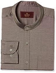 Raymond Mens Formal Shirt (8907576794437_RISZ00235-F7_42_Dark Fawn)