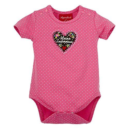 BONDI Body ´kleine Zuckermaus´, Punkte pink 68 Tracht Baby Mädchen Artikel-Nr.85610