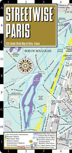 Streetwise Paris Map - Laminated City Center Street Map of Paris, France (Michelin Streetwise Maps) -