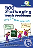 Best Books For 6th Graders - 200 Challenging Math Problems every 6th grader should Review