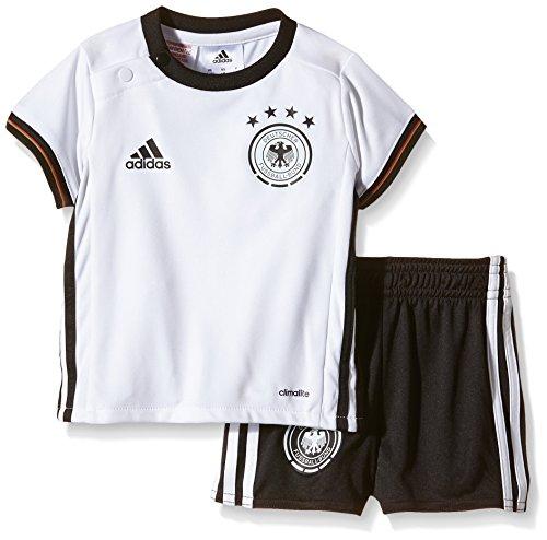 adidas Kinder Trikot UEFA EURO 2016 DFB Baby-Heimausrüstung Mini, White/Black 74