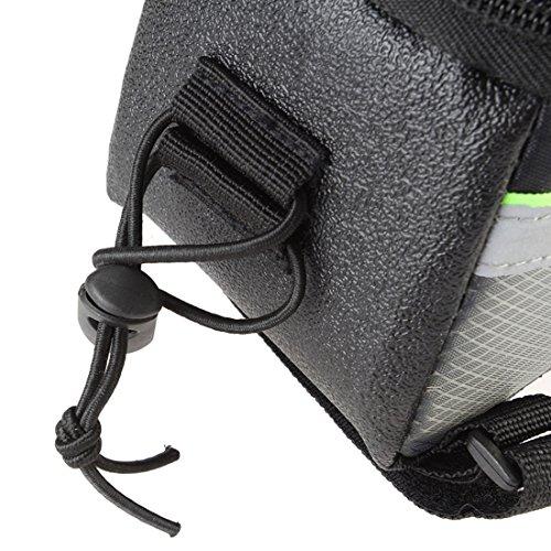 NoyoKere Tasche für Superior-Mobile-Rohr Fahrradrahmen - wasserdicht . PVC-Schlauch mit vorderer transparenter Schutzabdeckung und gepolsterter Stütze für integriertes Telefon. schwarz und grün