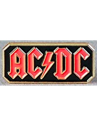 Broche en métal émaillé Motif ACDC de musique Rock