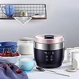 Marceooselm 4 Split Cup Temperiergeräte Fermentation Reiswein Käse Joghurt-Maschine, Terminruf