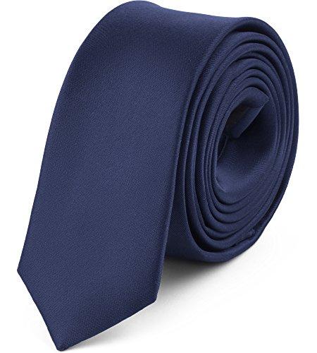 Ladeheid cravatta slim uomo sp-5 (150cm x 5cm, blu scuro)