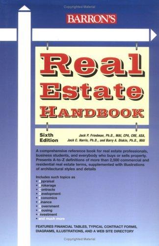 Real Estate Handbook (Barron's Real Estate Handbook) by Jack P. Friedman Ph.D. (2005-04-01)