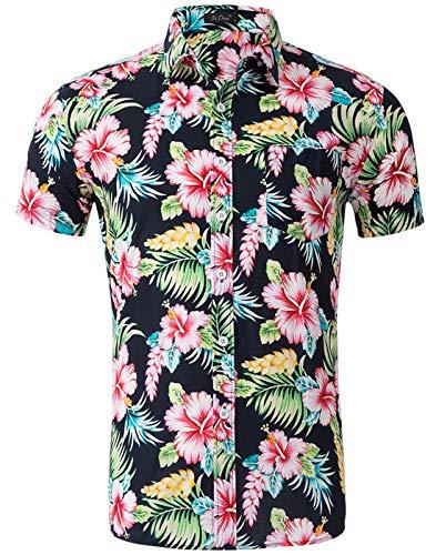 Herren Klassische Button-down-shirt (Idgreatim Juniors 3D Cool Diamond Button Down Hemden Kurzärmliges Hemden Shirt Slim Fit Oktoberfest Hemd Herren)
