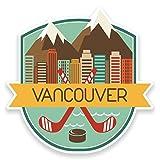 2 x 10cm/100mm Vancouver, Kanada Vinyl SELBSTKLEBENDE STICKER Aufkleber Laptop reisen Gepäckwagen iPad Zeichen Spaß #9186