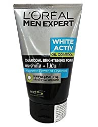 LOreal Men Expert White Active Oil Control Charcoal Brightening Foam 100Ml With Ayur Product In Combo