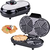 Macchine per Waffle | Waffle maker |  Piastra per Waffel a 10 cuori | cuoricini |  macchinetta per Waffel |  Waffel a cuore doppio | termostato immagine