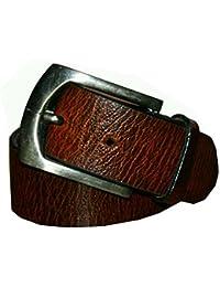 Aisling Men's Brown Formal Leather Belt Size- 34 Inch