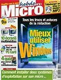 Micro hebdo - n°51 - 08/04/1999 - Mieux utiliser Windows