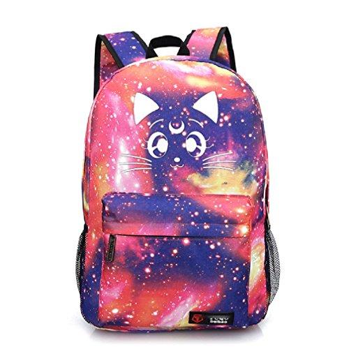 (yoyoshome Luminous Japanische Anime Cartoon Cosplay Schultasche College Rucksack Schultasche Sailor Moon Pink)