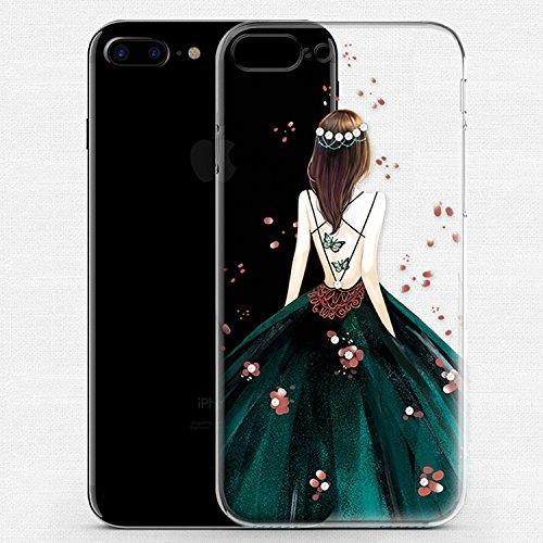 iPhone 7 Plus Coque Gel TPU Silicone Etui Intégrale Transparent Case pour iPhone 7 Plus 5.5 Pouces Housse Protection Full Silicone Souple Case, Vandot iPhone 7 Plus Ultra Mince Fine Slim Leger Tactile Robe-Vert