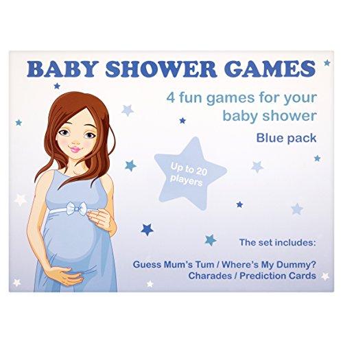UK Baby Dusche Fun Spiele (blau, 4Stück)