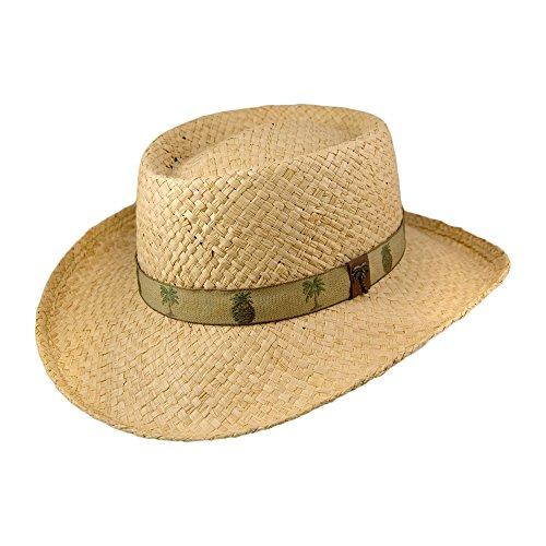 chapeau-gambler-en-raphia-avec-ruban-a-motifs-palmiers-et-ananas-naturel-scala-naturel-medium