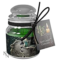 Weird Or Wonderful Spell Candle - Protection - Lavender by Lisa Parker - Burn Time 15 Hours - Nemesis Now Gothic Gift Magic Magical Mystical Spiritual Wolf Wolves