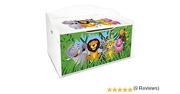 Mobili Portagiochi Per Bambini : Leomark contenitore porta giochi xl in legno cesta per giochi