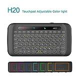 SIMCAST Mini Tastatur Beleuchtet 2.4 GHz Wireless Keyboard/ 10 Meter Reichweite geeignet für Smart TV, Android TV Box, HTPC, IPTV, XBOX360, PC, PAD, PS3, Bunte Hintergrundbeleuchtung