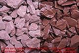 1 Tonne Canadian Slate rot 15-30mm, Edelsplitt - gebrochen im Big Bag (9879000100)