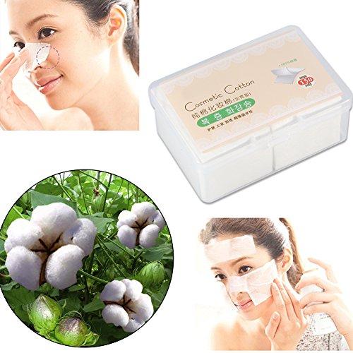 150 PCS Cosmétique Coton Tampons Visage Maquillage Lingettes Nail Art Polonais Gel Remover 0026 Boîte