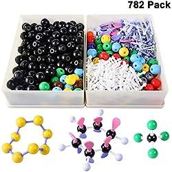 Winni43Julian 782pz Modello Molecolare Set - Kit per Modellini Molecolarie Chimica Organica e Inorganica - Atomi e Molecole Modelli
