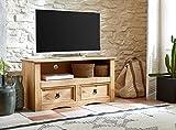 SAM® TV Board aus Kiefernholz, Mexico-Möbel, Lowboard mit 2 Schubfächern, gewachst, Schwarze Metallgriffen, 108 x 44 cm [521547] Vergleich