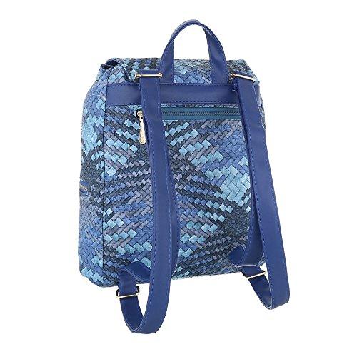 Ital-Design, Borsa a zainetto donna Blau