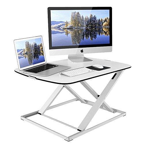 1home Höhenverstellbar Sit-Standing Desktop Workstation Schreibtisch Computer Riser Weiß (Schreibtisch Workstation,)