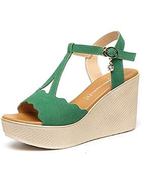 HYLM I sandali delle signore, le signore adattano i pendii estivi ed innescano i sandali , green , 39