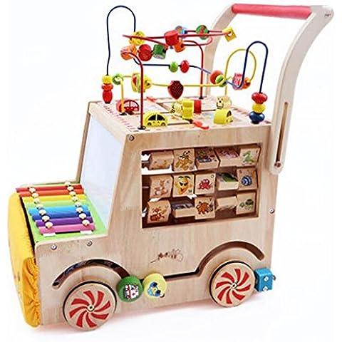 Wisdom Multi-función Walker Push, niños alrededor del coche de los granos, juguetes educativos de los niños
