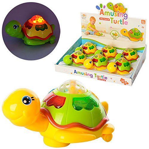 Vibgyor Vibes™ colourful Push/Bump and Go Wobble Head Friction Animal Turtle Toys -Best for Return Gifts