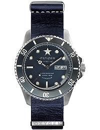 University Sports Press EX-DV-JEA-42-NL-JE - Reloj de cuarzo unisex, correa de cuero color azul