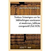 Notices historiques sur les bibliothèques anciennes et modernes , suivies d'un tableau: comparatif des produits de la presse de 1812 à 1825 et d'un recueil de lois et ordonnances